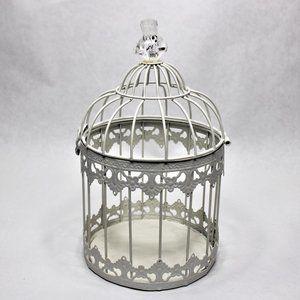 Small Wire Birdcage w/Acrylic Bird on Top